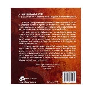 Meditacion: La mente silenciosa. En conversacion con el maestro budista Chogyam Trumpa. Libro + DVD (Spanish Edition): Jiddu Krishnamurti: 9788484452485: Books