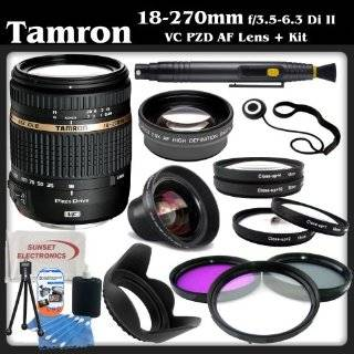 """Tamron AF 18 270mm f/3.5 6.3 Di II VC PZD LD Aspherical IF Macro Zoom Lens for Sony DSLR Cameras + SSE """"Lens Care"""" Kit Includes   0.45x Wide Angle Macro Lens, 2x Telephoto Lens, 4 Piece Macro Close Up Kit, 3 Piece Professional Filter Kit (UV,CPL"""