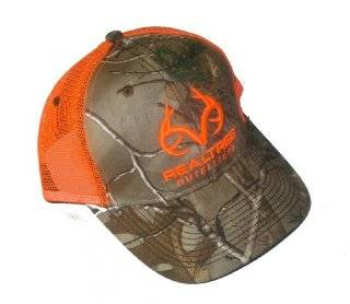 REALTREE OUTFITTERS Camo & Blaze Orange Mesh Cap Hat Hunting ~ RO277_Xtra  Sports & Outdoors