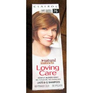 Clairol Natural Instincts Loving Care Hair Color 76 Light Golden Brown 1 Box Beauty