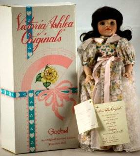1997   Goebel   Victoria Ashlea Originals   Designed by Karen Kennedy   #298 of 1250   August Birthday Porcelain Doll   With Stand   w/ Peridot Necklace   Limited Edition   Out of Production   New Toys & Games