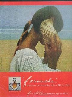 Farouche the new perfume by Nina Ricci, Paris ad 1974 David Hamilton photo Collectibles & Fine Art