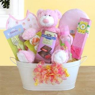 New Arrival Baby Girl Gift Basket  Baby Shower Gift Idea Baby