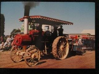 1915 Russell Steam Engine Antique Tractor Postcard