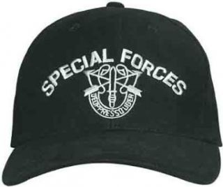 SPECIAL FORCES Embroidered Cap, Black: Clothing