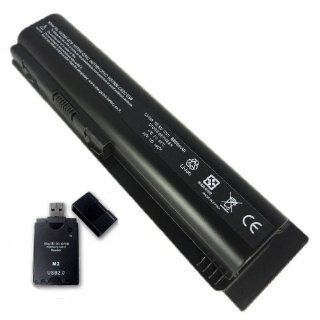 12 Cell Battery for HP COMPAQ Presario CQ61 316TX CQ61 323TX HP HDX16 HDX16t HDX X16 1000 with All In One Card Reader Computers & Accessories