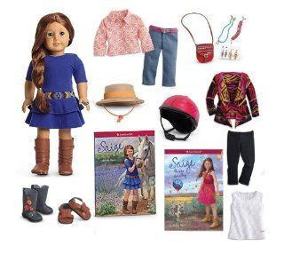 Ultimate American Girl Saige Doll with Paperback Book & 5 Collector's Sets Toys & Games