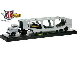 1956 Ford F 100 COE and 1970 Ford Torino GT351 1/64 Black: Toys & Games