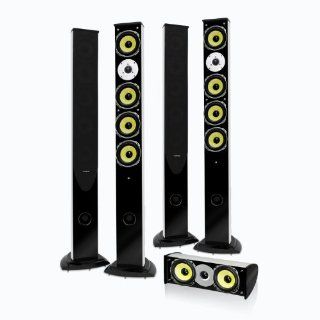 Fluance ES Series Higher Fidelity 5 Speaker Surround Sound Home Theater System with Floorstanding Pillar Surrounds Electronics