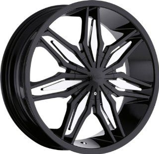MILANNI   368 stalker   20 Inch Rim x 7.5   (5x112/5x4.5) Offset (35) Wheel Finish   black & chrome: Automotive