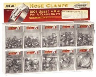 Ideal Hose Clamps 285 Piece Stainless Hose Clamp Assortment with Tilt Bins   6703451: Sports & Outdoors