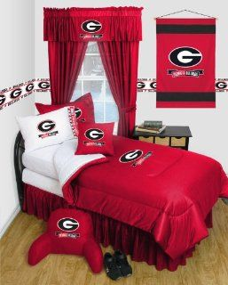 Georgia Bulldogs   Locker Room Series   TWIN Comforter WITH BONUS Georgia Bulldogs Pillow Sham : Other Products : Everything Else