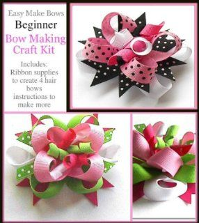 Easy Make Bows Beginner Bow Making Hand Made Craft Kit, How to Make These Ribbon Hair Bows,assembly Instructions,supplies for Teenagers 16 and Up, Great Gift Ideas!: Everything Else