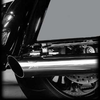 "RC Components Chrome Slash Cut 4.0"" Slip on Mufflers 1995 & Newer Harley Davidson Touring Models   RCX103C Automotive"