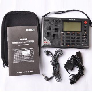 TECSUN PL 380 DSP FM stereo. MW. SW. LW. World Band PLL Radio Receiver, LCD Display, ETM Function Added Electronics
