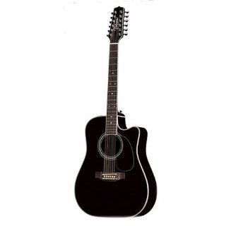 Takamine Pro Series EF381SC Dreadnought 12 String Acoustic Electric Guitar, Natural with Case Musical Instruments