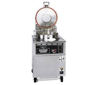 BKI FKM2203803 Round Well Pressure Fryer w/ 75 lb Oil Capacity & Digital Timer 220/380/3 V, Each: Kitchen & Dining