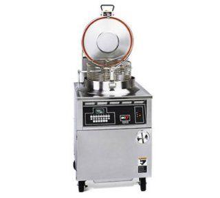 BKI FKM2203803 Round Well Pressure Fryer w/ 75 lb Oil Capacity & Digital Timer 220/380/3 V, Each: Kitchen & Dining