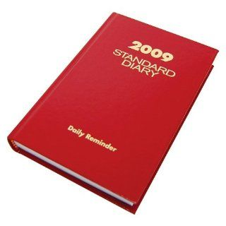 At A Glance SD387 13 Standard diary daily reminder book for 2009, tel/expense, 5 x 7 1/2, red vinyl cover  Appointment Books And Planners