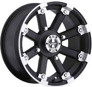 VISION WHEEL   393 lock out   14 Inch Rim x 8   (4x156) Offset ( 10.2) Wheel Finish   matte black machined lip with chrome hex bolt inserts: Automotive
