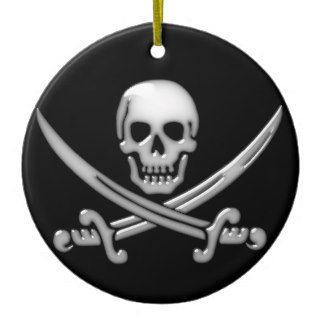 Pirate Skull & Sword Crossbones (TLAPD) Christmas Tree Ornament