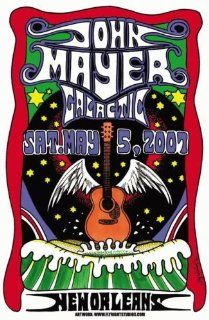 John Mayer Galactic New Orleans 2007 Concert Poster   Prints