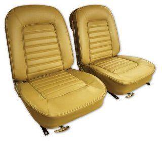 West Coast Corvettes   Corvette Vinyl Seat Covers. Saddle   A2417452DS Automotive