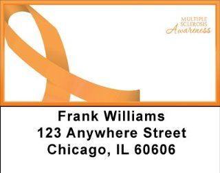Multiple Sclerosis Awareness Ribbon Large Address Labels: Office Products