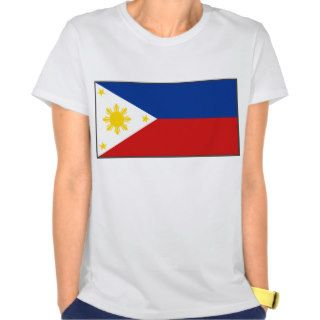 Philippines Flag and Map T Shirt