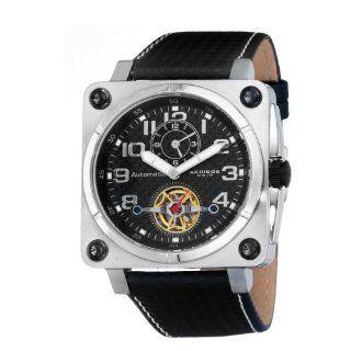 Akribos XXIV Men's AK408SS 'Monaco' Open Heart Automatic Dual Time Watch Watches