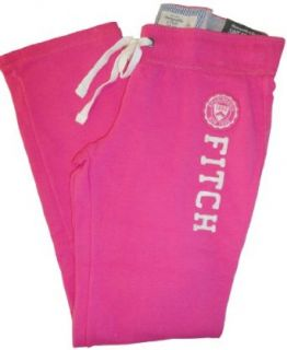 Women's / Girl's Abercrombie and Fitch Skinny Sweatpants Pink Size Large Clothing