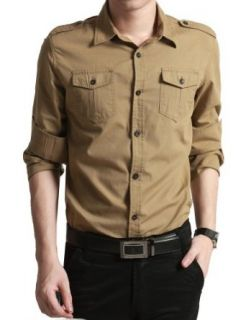 Autumn Men Shirt Long Sleeved Shirts Men's Cotton Shirt at  Men�s Clothing store