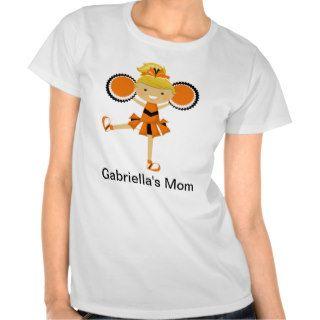 Orange, Black & White Cheerleader Tee Shirts