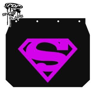 Proven Design SF YAMSPM67 Yamaha Snowmobile Mud Flaps Superman Logo Pink Snow Flap: Automotive