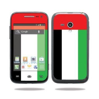 Protective Vinyl Skin Decal Cover for Samsung Galaxy Rush Cell Phone M830 Boost Mobile Sticker Skins United Arab Emirates Flag: Electronics