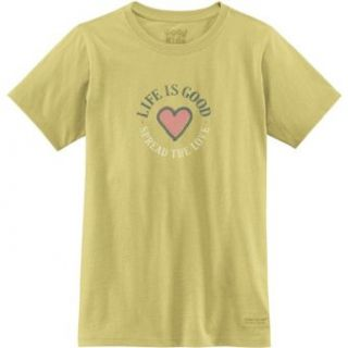 Life is good Girl's Crusher Spread The Love T Shirt Clothing