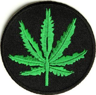 Marijuana Leaf POT Weed 420 Funny Embroidered Quality Biker Vest Patch PAT 2453: Everything Else