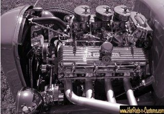 427 TRI POWER BB CHEVY HOT ROD PHOTO 8 1/2 X 11 PHOTOGRAPH