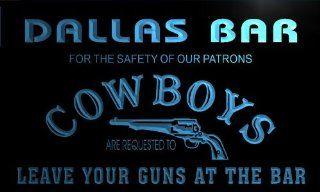 qg421 b Dallas Personalized Cowboys Leave Guns Man Cave Led Bar Neon Beer Sign