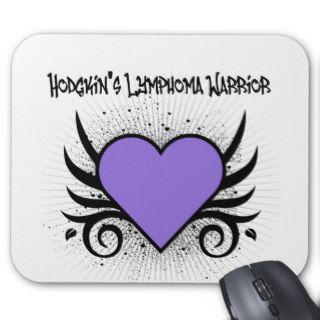 Hodgkin's Disease Warrior Heart Tattoo Mouse Mats