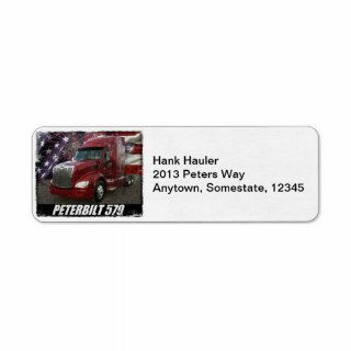 2013 Peterbilt 579 Custom Return Address Label