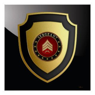[700] Sergeant (Sgt) Rank Insignia Poster