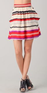 10 Crosby Derek Lam Striped Flounce Skirt