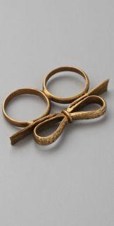 Bing Bang Bow Two Finger Ring