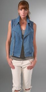 Mike & Chris Ronner Denim Biker Vest