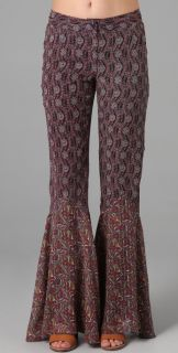 Anna Sui Print Bell Bottoms