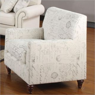 Coaster Norah Accent Arm Chair in French Script Pattern   502513