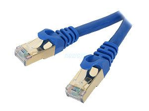 Rosewill RCW 50 CAT7 BL 50 ft. Cat 7 Blue Color Shielded Twisted Pair (S/STP) Networking Cable