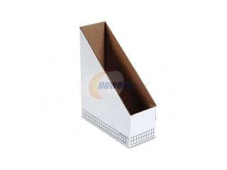 Bankers Box                              Corrugated Cardboard Magazine File, 4 x 9 1/4 x 11 3/4, White, 12/Carton