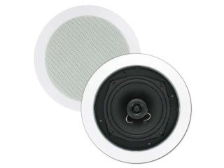 """Theater Solutions TS50C 5.25"""" In Ceiling Surround Sound Home Theater Round Kevlar Speaker Pair"""